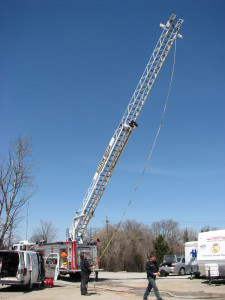 Fire Truck Aerial Ladder Inspection Canada Domson